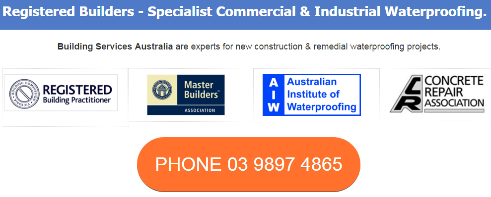 Registered Builder Waterproofing Specialists Melbourne