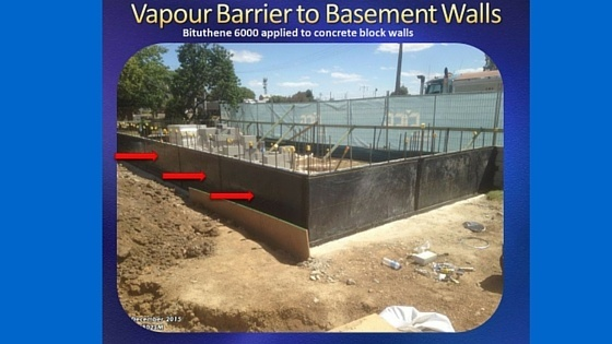under concrete slab barrier