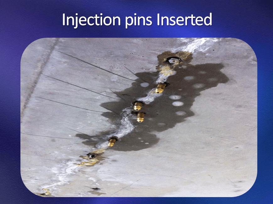 Polyurethane-crack-injection
