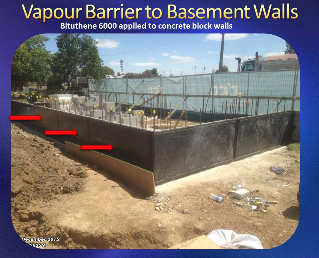 Vapour Barrier Concrete Slab